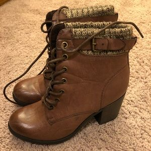 Mia lace up ankle boots with heel women's size 7